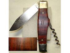Ancien Couteau Tire bouchon publicitaire Fleuret, knife corkscrew art populaire