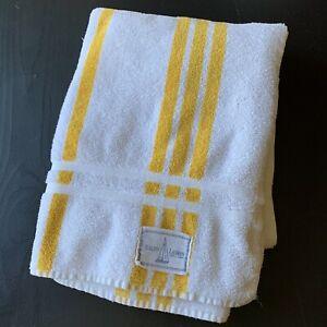 Ralph Lauren Home Beach Pool Towel Yellow White Stripe Cotton