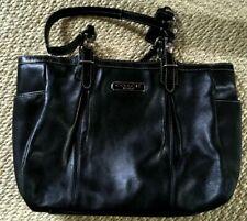 a4ae3672a Vintage COACH Cuero Negro Bolso De Mano Corto Correas con etiqueta  35.6x22.9cm