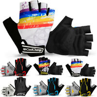 Breathable Men Women Half Finger Cycling Gloves Fingerless Biking Bicycle Riding