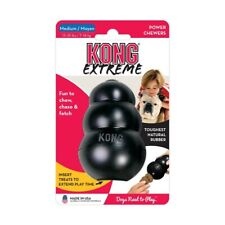 New KONG Extreme Rubber Black Dental Tough Dog Toy - Sm, Med, Lge, X-Lge, XX-Lge