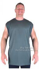 Big Mens Green Espionage Hiker Sleeveless T-Shirt 2xl 3xl 4xl 5xl 6xl 7xl 8xl