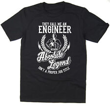 Engineer T-Shirt - Absolute Legend! Funny T-Shirt available in 6 colours.