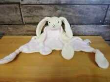 Jojo Maman Bebe Pink Cream Striped Bunny Baby Comforter Blankie Plush Soft Toy