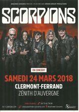 FLYER - SCORPIONS : EN CONCERT LIVE A CLERMONT FERRAND ( FRANCE ) 2018