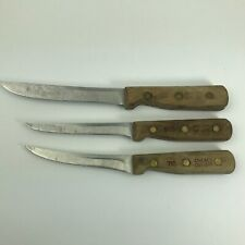 Lot of 3 Vintage Wood Handle Chicago Cutlery Knife Knives 61S 62S 71S