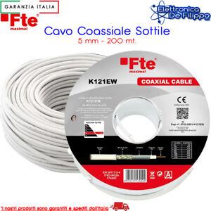 Bobina / Matassa Cavo Coassiale SAT - TV da 5.3 mm come K120E FTE 200 mt