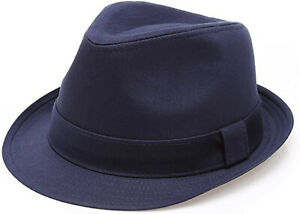 Men's Classic Trilby Stingy Brim Premium Cotton Twill Causal Summer Fedora Hat