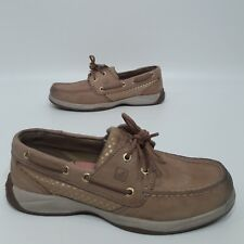 Sperry Top-Sider Tan/gold Polka Dots Moccasin Womens Size 7 M