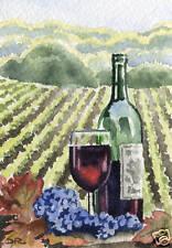 """FRUIT OF THE VINE"" Wine Vineyard Art Print Signed by Artist DJ Rogers"