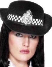 Donna Poliziotta WPC Police donna Cappello Nero/Bianco by Smiffys Nuova