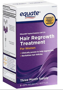Equate Women's Hair Regrowth Topical Solution 2% Minoxidil 3 Months Supply, 2022