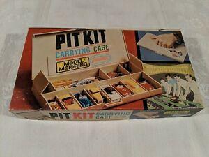 1963 Aurora Model Motoring #1449 Pit Kit Slot Car Carrying Case w/ box & handle!