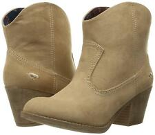 Rocket Dog Soundoff Coast Fabric Ankle Boots Western Faux-Suede Sand Tan Beige