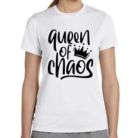 Queen of Chaos Krone Spruch Sprüche Comedy Spaß Fun Lustig Damen Girlie T-Shirt