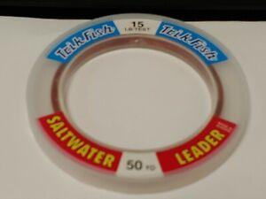 1 Spool Trik Fish Saltwater CAMO Leader Material 15 lbs. Test 50 Yards