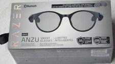 Razer - Anzu Smart Glasses Large Round Frame Bundle with Blue Light Filter