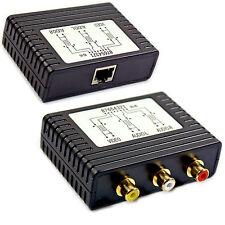 AV Composite + Audio 3 RCA To CAT5 Extender Device Balun 120m - Long Phono