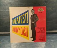 Johnny Cash Sun Records SLP 1240 Greatest! Vinyl Record LP Microgrove