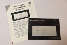 Ayre Acoustics V-1x Amplifier Original Product Info Card, Manual