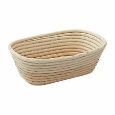 More details for schneider bread proving basket - ivory 100% natural rattan - oval - long - 500g