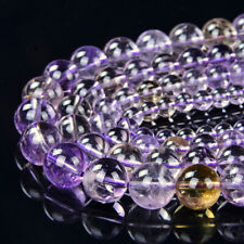 Natural Ametrine Gemstone Grade AAA Round 6mm 8mm 10mm 12mm Loose Beads (A283)