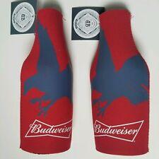 2 Patriotic Budweiser Beer Bottle Cooler Coozie Koozie Suit Anheuser-Busch Eagle