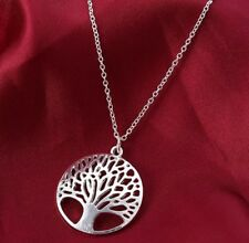 Tree of Life Necklace 925 Silver Plated + free gift bag