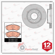Fits Hyundai Elantra XD Front Disc Rotors 257mm and Ceramic Brake Pads Set 00-07