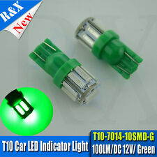 20x GREEN led wedge globes T10 7014 ,suits many cars, dash & number plate lights