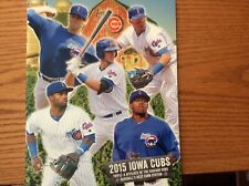 2015 Iowa Cubs Official Team Yearbook Chicago Cubs Baez/Bryant /Hendricks NEW