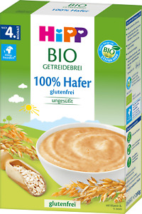 HIPP Organic Cereal Pap 100% Oat Hafer, from 4+, Without Milk,Gluten-FREE, 200g