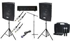 Completo 200W PA Sistema de altavoces para micrófono inalámbrico de banda Dj-, conduce & Stand