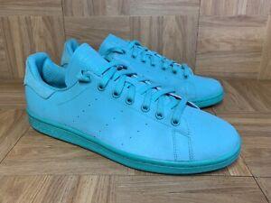 RARE🔥 Adidas Stan Smith Adicolor Green Sz 12 S80250 3M Reflective Sneakers Shoe