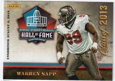 Warren Sapp Panini Pro Football Hall of Fame Class of 2013 Card HOF