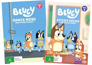 Bluey DVD Volume 7 Dance Mode, Volume 8 Sticky Gecko