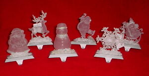 CHRISTMAS STOCKING HOLDERS * 6 TO PICK FROM * NEW * 5/6 INCHES TALL