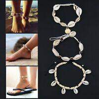 3Pcs Shell Foot Jewelry Anklet Bracelet Sea Bohemia Bead Beach Nature Handmade