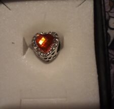 Red Heart Sparkle Spacer  Bead Fits Gnoce Etc