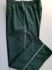 Lands End Men Size L 36-38 Piped Mesh Lined Athletic Pants Wind Water Resist Grn