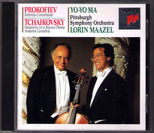 Yo-Yo Ma: Prokofiev Sinfonia concertante Tchaikovsky Rococo variations Maazel CD