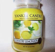 """Yankee Candle """"COUNTRY LEMONADE"""" Fruit ~ Large 22 oz.~ WHITE LABEL~ NEW"""