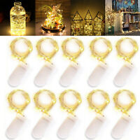 10 pcs 2m 20LEDs Battery Operated Mini LED Copper Wire String Fairy Lights Xmas