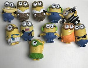 Despicable Me 2 Lot 11 Minions 2013 McDonald's Figurines