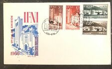 1960 Sidi Ifni Equatorial Guinea Spain First Day Cover FDC Buildings