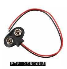 9 Volt Battery Snap Connector, Use w/ My PTF Designs O Scale Building Flat LEDs