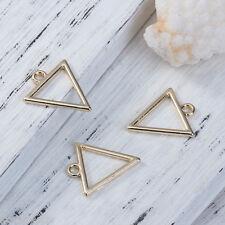 5PCs Gold Plated Hollow Triangle Shape Pendants DIY Fashion Jewelry 18x16mm