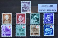 ESPAÑA AÑO 1950 (*) NUEVOS SIN GOMA, LOS DE LA FOTOGRAFIA