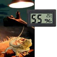 Digital Meter LCD Temperature Humidity Thermometer Vivarium Hygrometer Rept L1X6