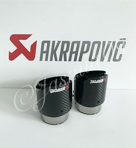 "AKRAPOVIC 3.5"" MPE CARBON EXHAUST TIPS M135i M140i M235i M240i 335i 340i 440i"